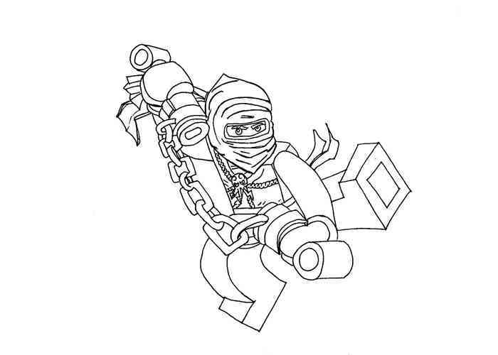 dessin à colorier ninjago lord garmadon