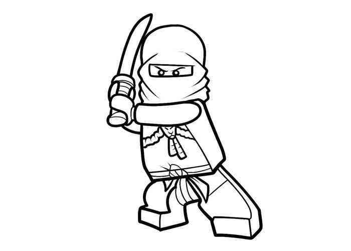 dessin de ninjago jay