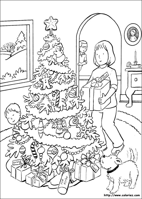 Раскраска маме на новый год