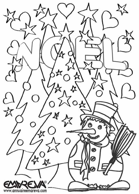 coloriage noel en maternelle - Coloriage Noel