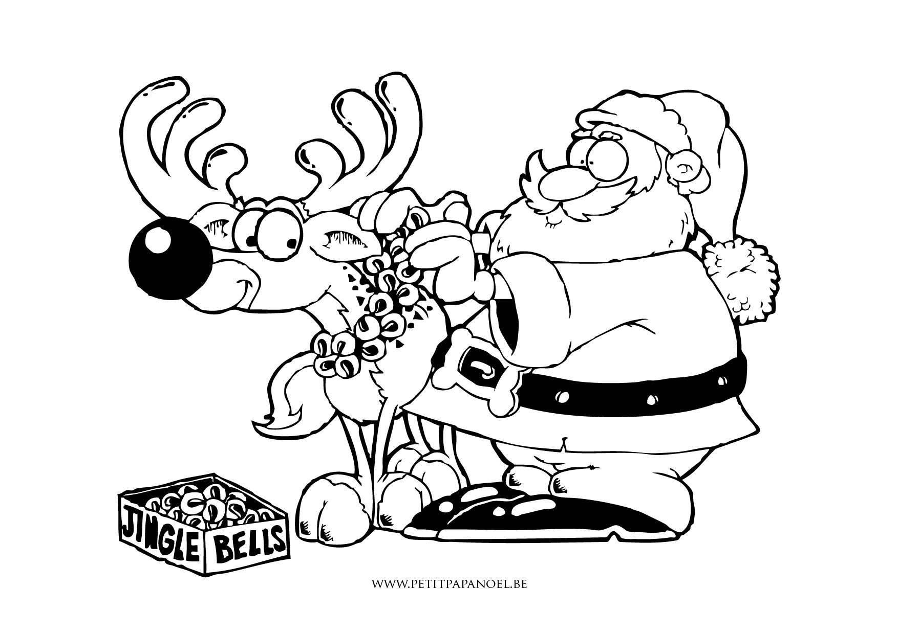 coloriage noel sur hugo l'escargot