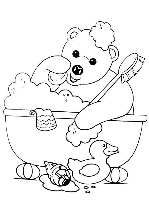 Dessin ours debout - Image de nounours a imprimer ...