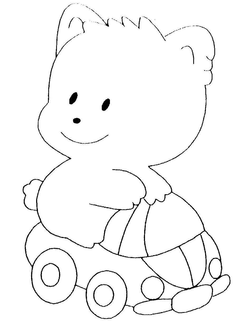 dessin à colorier trois ours
