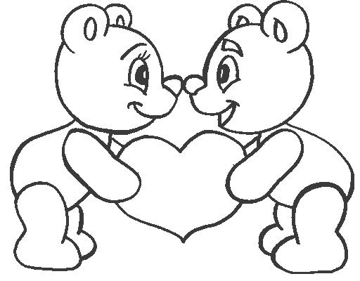 33 dessins de coloriage nounours imprimer - Coloriage avec des coeurs ...