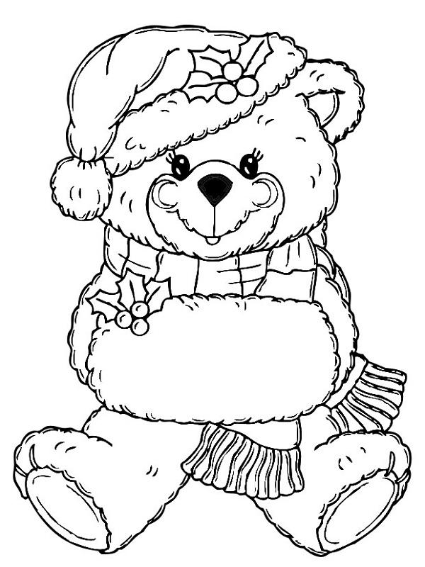 coloriage à dessiner ours qui hiberne