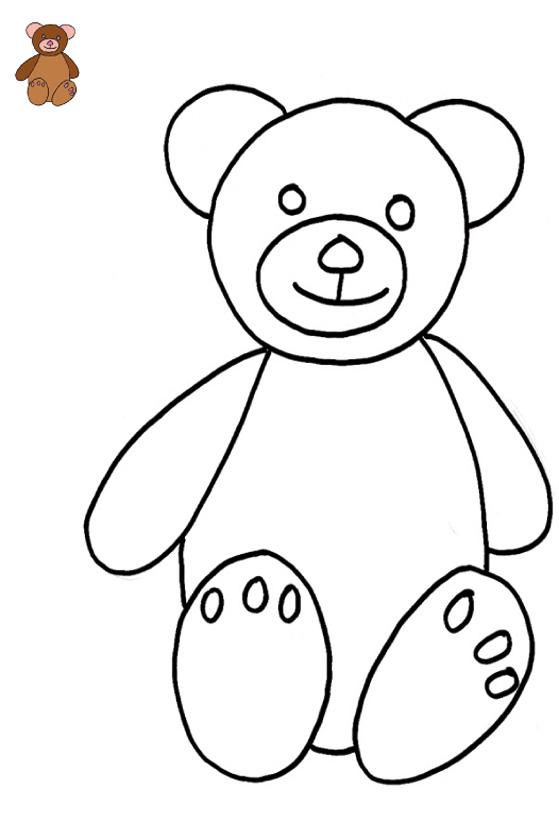 coloriage à dessiner ours brun gratuit