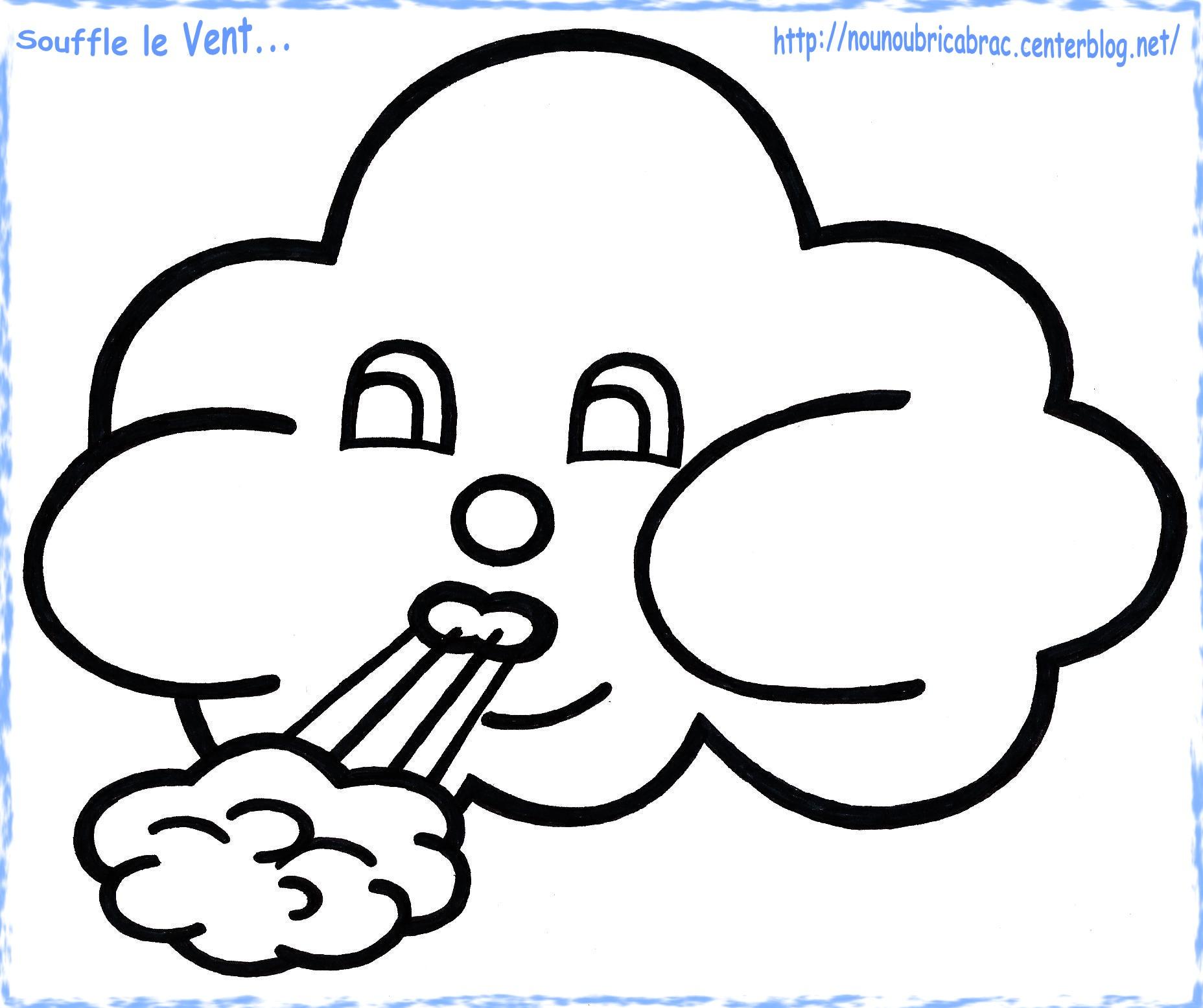 dessin à colorier en ligne nuage