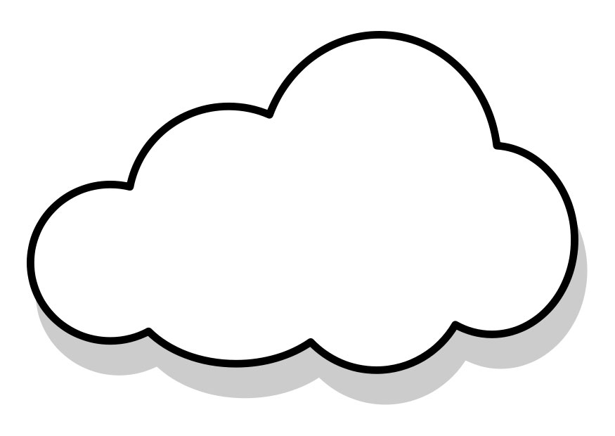cloud shapes coloring pages - photo#12