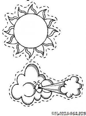 dessin nuage soleil