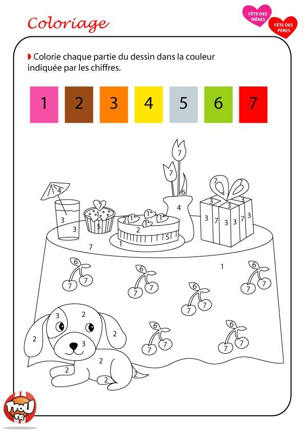 coloriage magique fractions cm1
