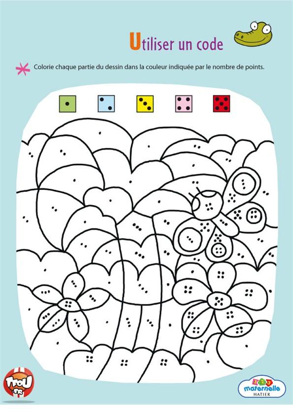 coloriage à dessiner numéroté facile