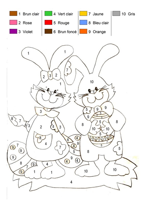 coloriage � dessiner magique unit�s dizaines