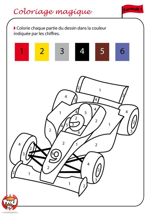 coloriage magique en maternelle
