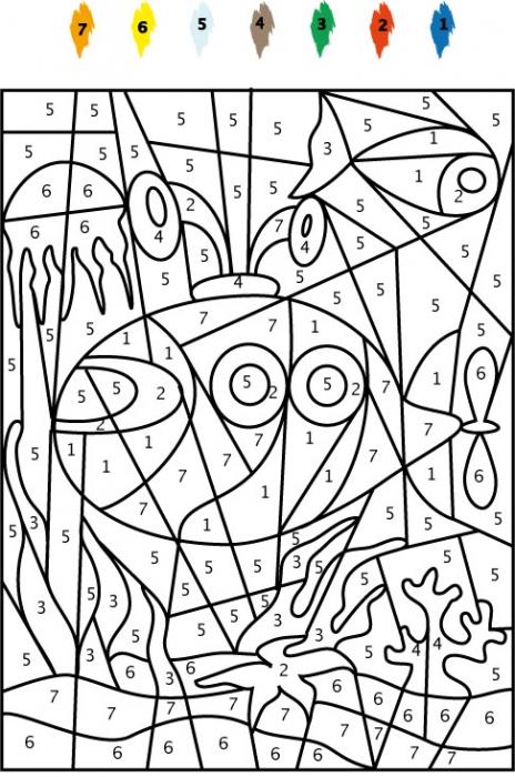 dessin à colorier magique a imprimer