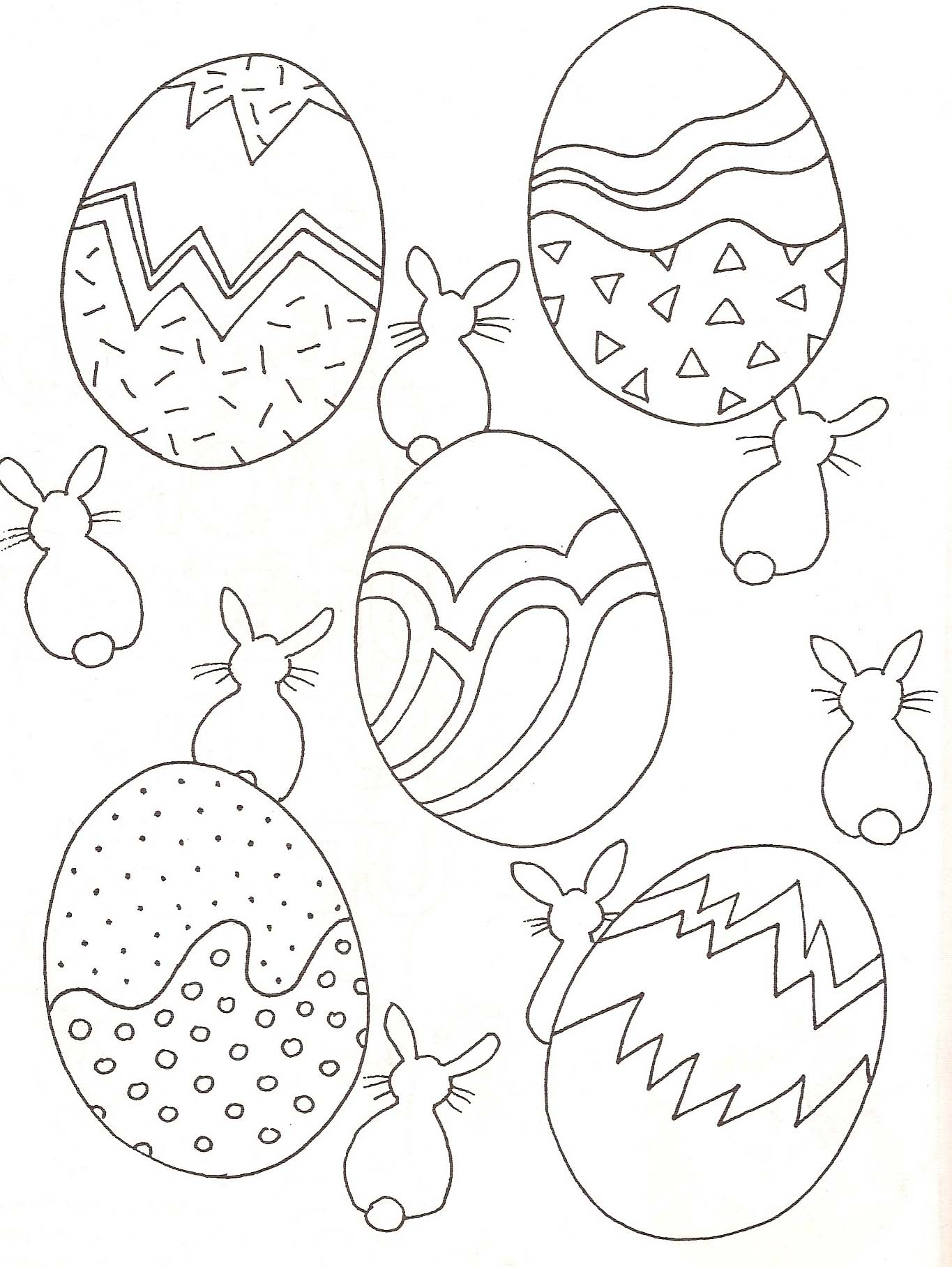 25 dessins de coloriage oeuf de paques à imprimer