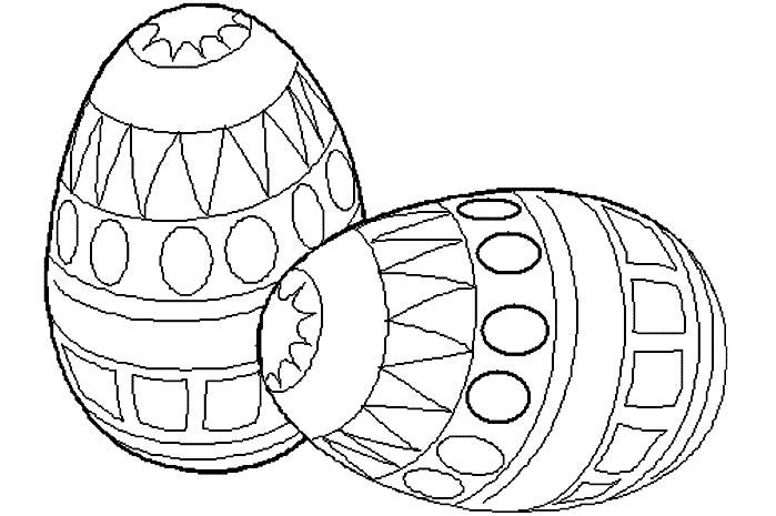 coloriage à dessiner oeuf de paques petite section