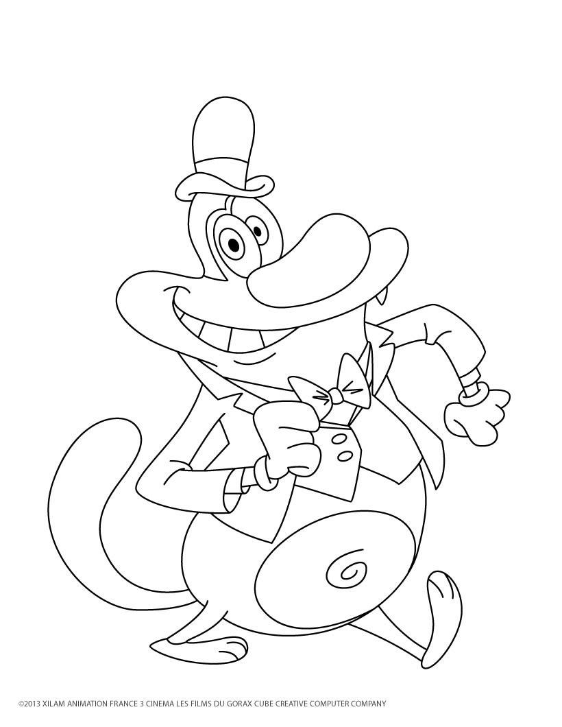 10 dessins de coloriage oggy et les cafards gratuit imprimer - Dessin de simpson a imprimer ...