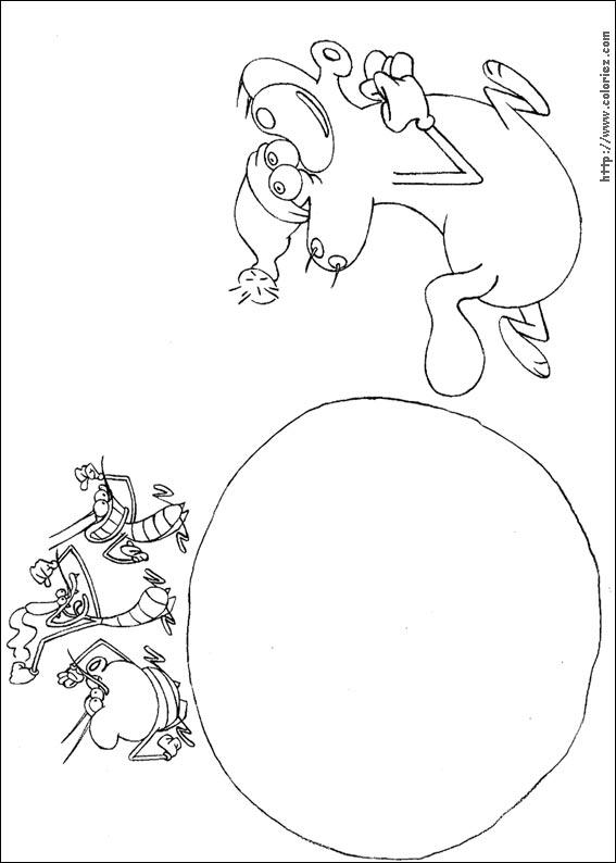 dessin à colorier de oggy et les cafards en ligne