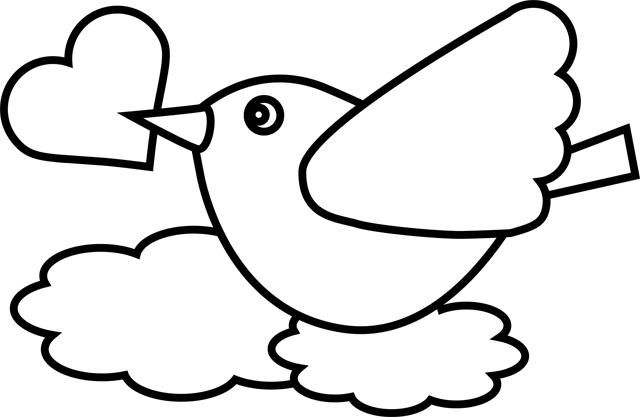 20 dessins de coloriage oiseau imprimer gratuit imprimer - Dessin coeur a imprimer gratuit ...