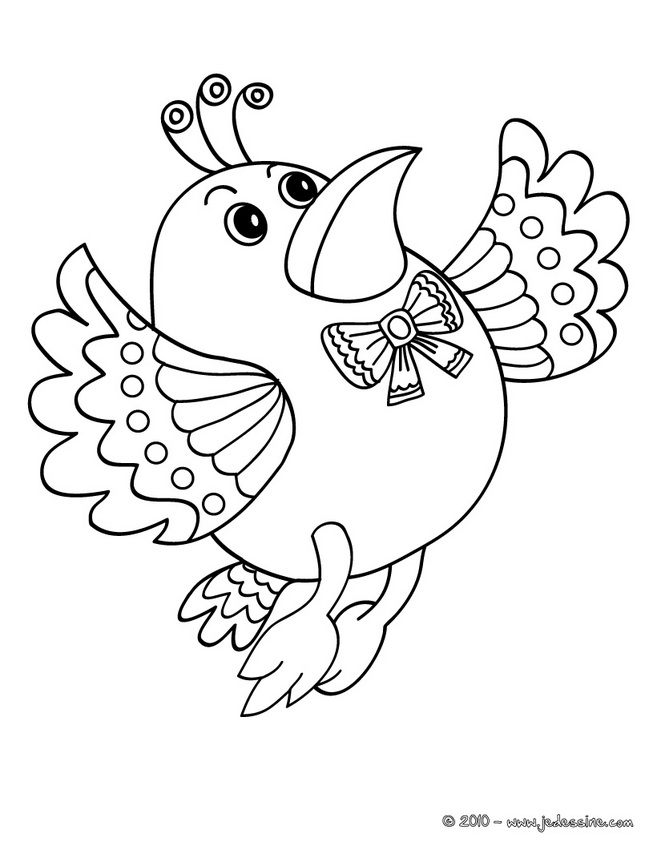 coloriage à dessiner oiseaux gratuit