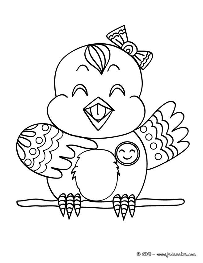 dessin oiseaux exotiques a imprimer