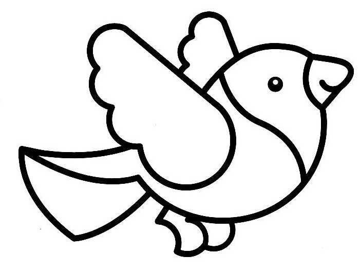 dessin à colorier oiseau qui vole imprimer