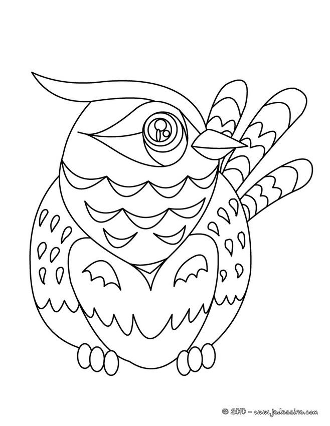 coloriage oiseau rigolo