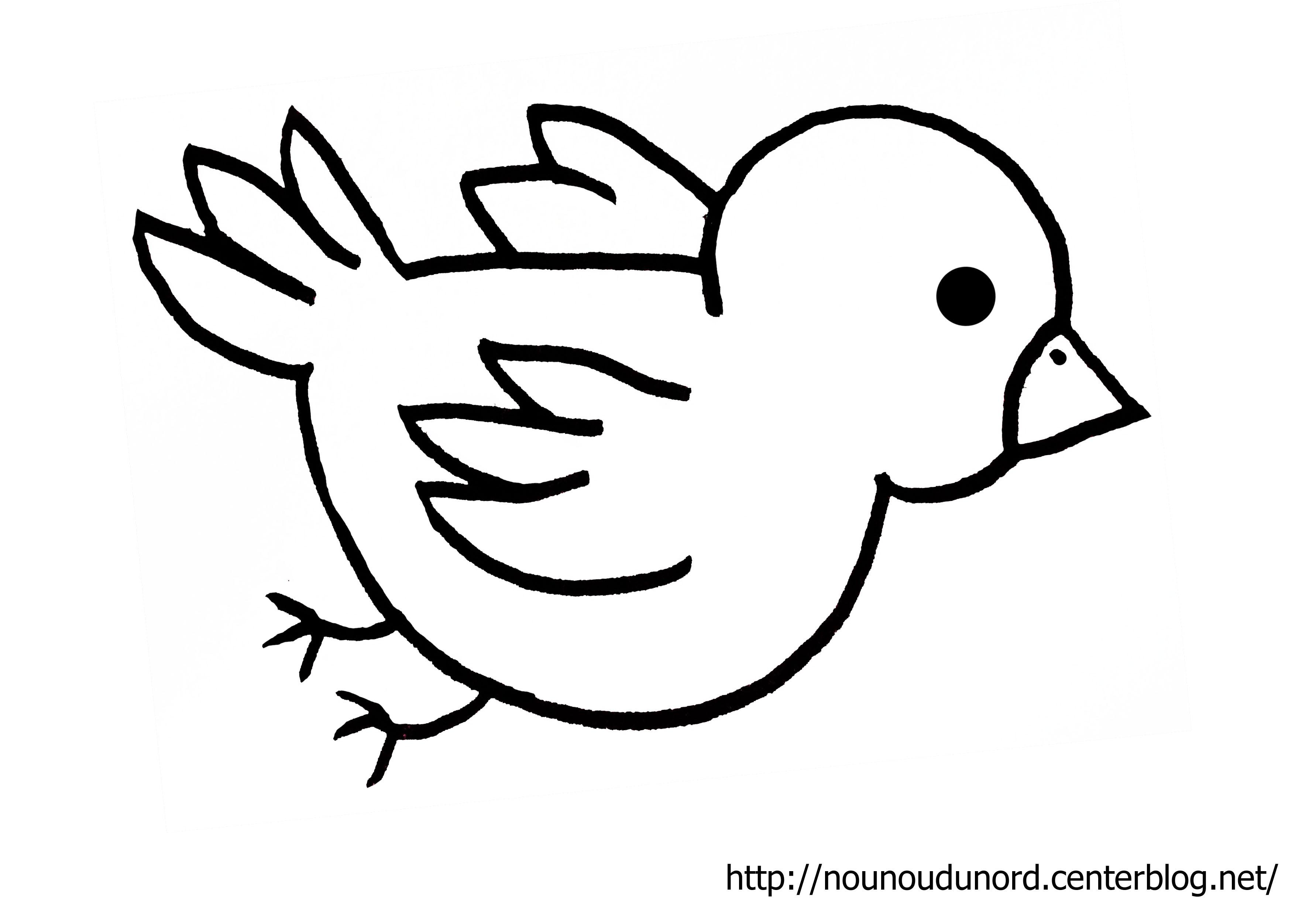 coloriage à dessiner oiseau stylisé