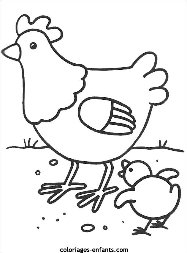 coloriage � dessiner oiseaux dans nid