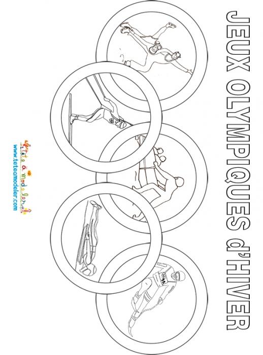 coloriage jeux olympique