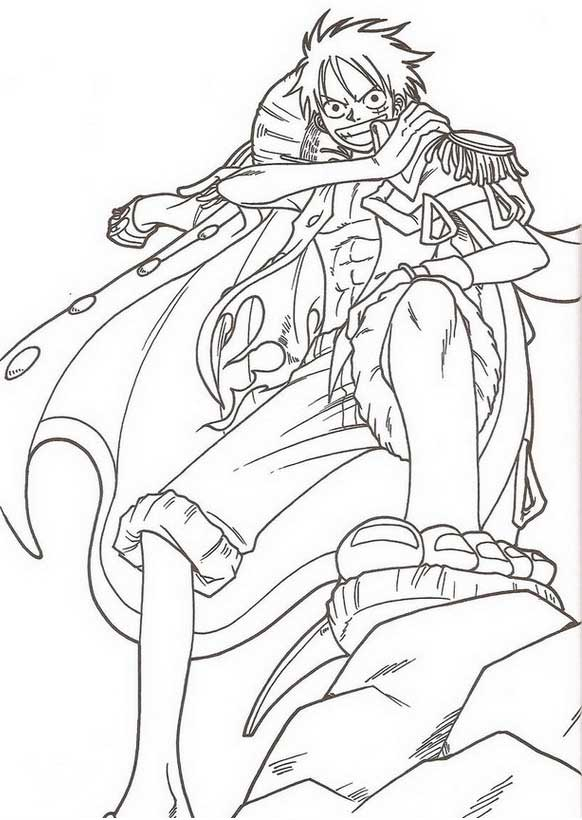Coloriage one piece sabo - Dessin a colorier one piece ...