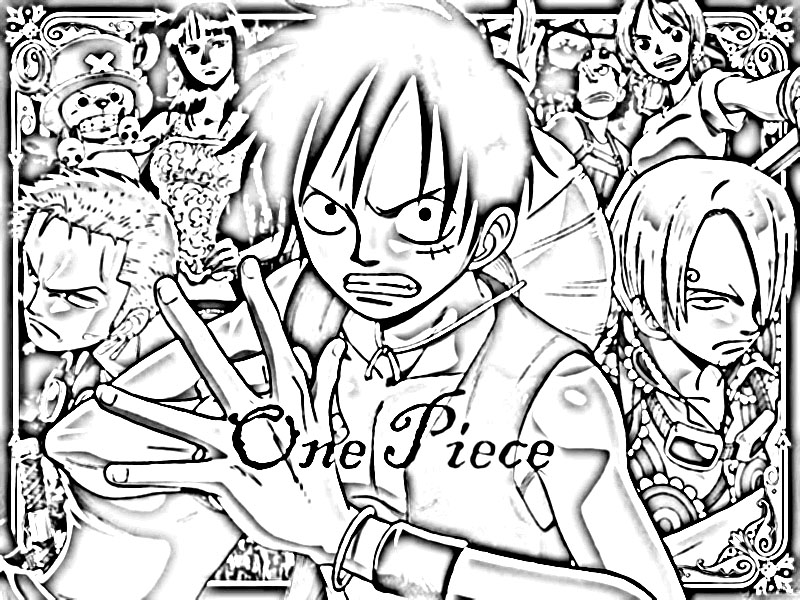 Coloriage one piece a imprimer zoro - Coloriage one peace ...