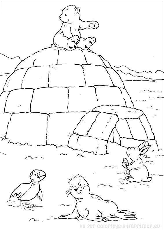 19 dessins de coloriage Ours Blanc