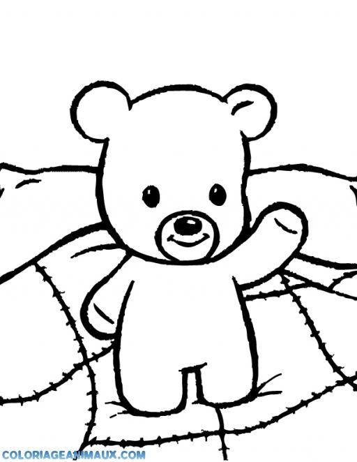 20 dessins de coloriage ours en peluche imprimer - Dessin ours facile ...