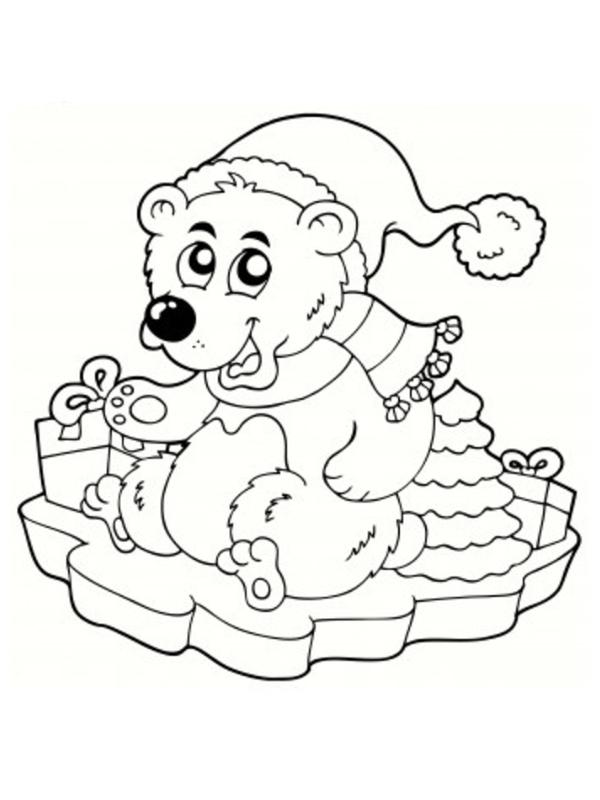 Coloriage d 39 ours polaire - Coloriage de ours ...