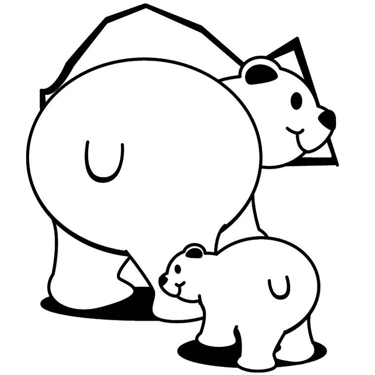 Dessin colorier d 39 ours blanc - Ours polaire dessin ...