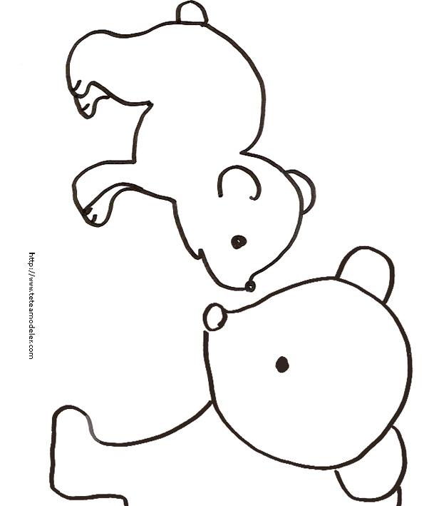 coloriage à dessiner d'ours blanc