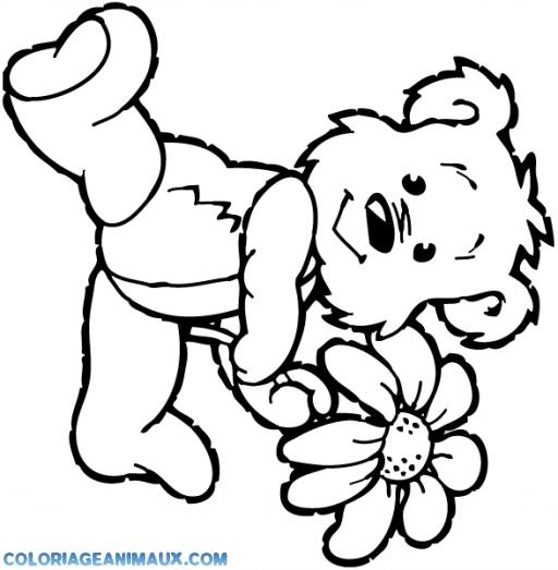 dessin à colorier d'ourson a imprimer