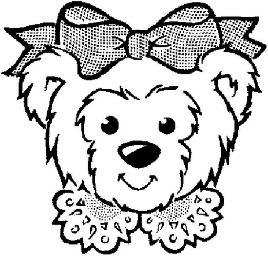 coloriage à dessiner ours debout