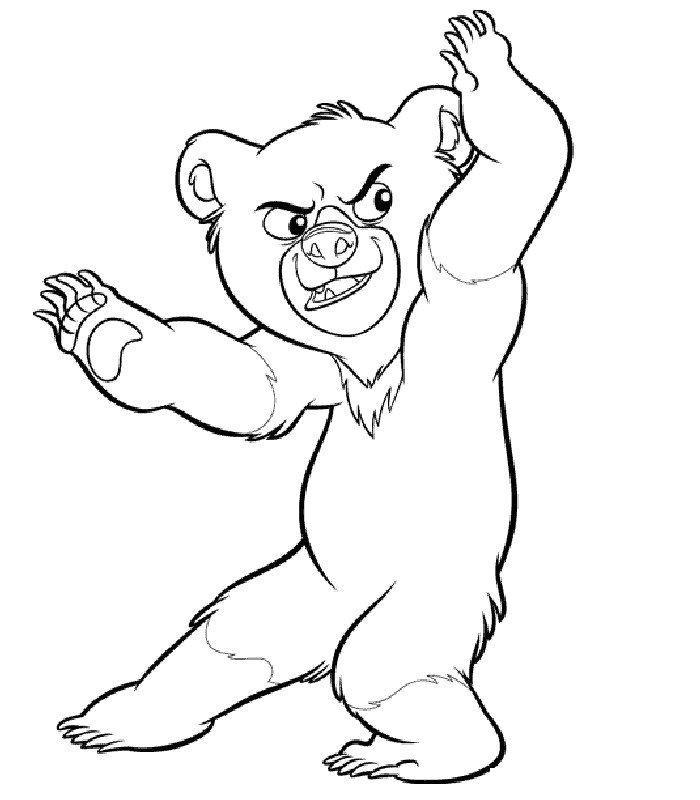 ours image dessin à colorier