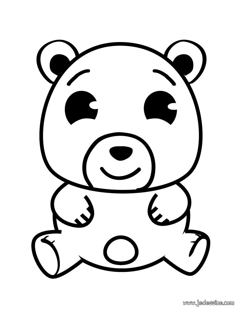 dessin à colorier rupert l'ours