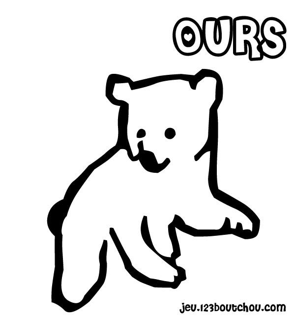 coloriage à dessiner ours octave