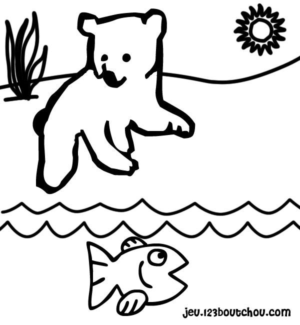 Coloriage dessiner d 39 ours avec un coeur - Ours a dessiner ...
