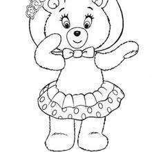 dessin à colorier ours michka