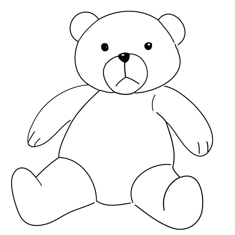 coloriage à dessiner petit ours brun en ligne