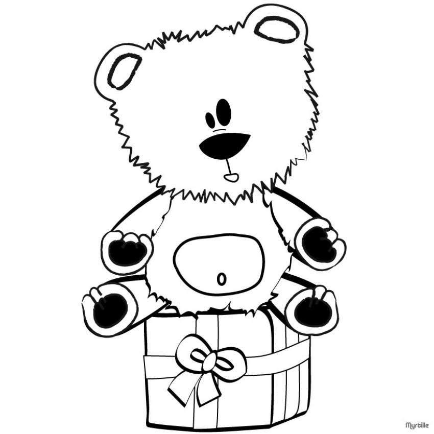 coloriage à imprimer ours