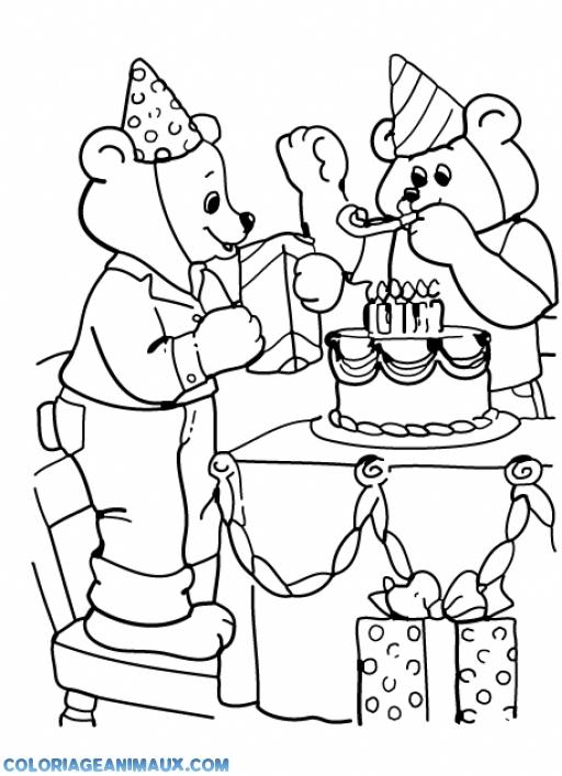 dessin à colorier ours imprimer gratuit