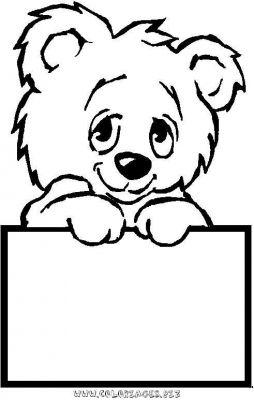 dessin petit ours brun à l'école