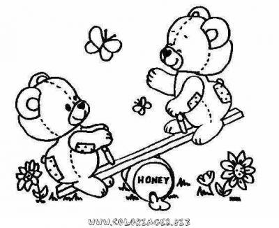 dessin à colorier magique ours