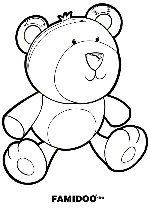 coloriage doudou ours
